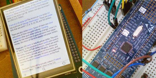 E-Reader casero con LCD y ARM Cortex M0