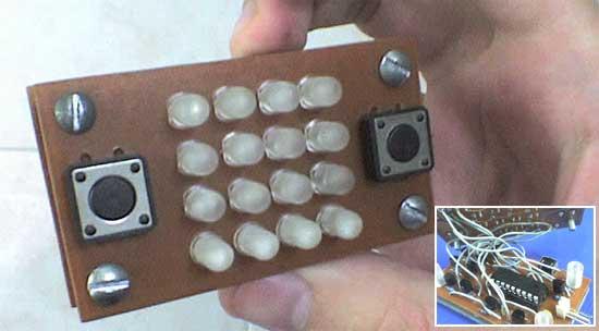 Consola de juegos casera con LED RGB y PIC16F628