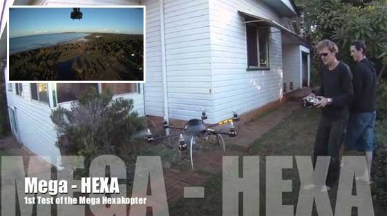 MegaHex: Hexacopter RC con video de alta definición