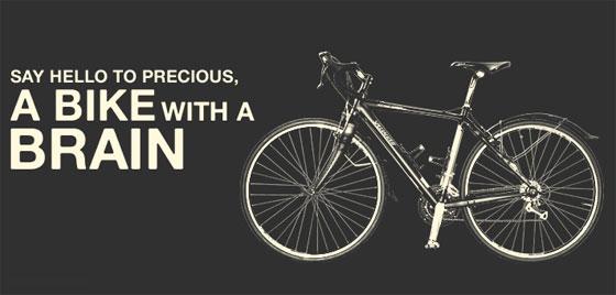 Bicicleta con Twitter incorporado