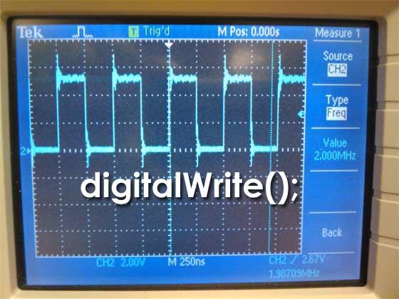 Arduino: Función digitalWrite más rápida