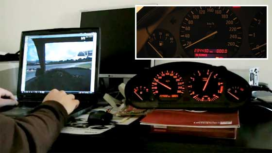 Controles reales de BMW E36 en Live for Speed con Arduino MEGA