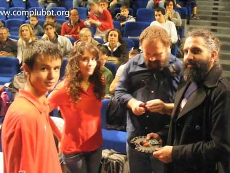 Complubot en el campeonato de Bergamoescienza (Italia)