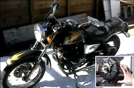 Conversión de moto a gasolina en eléctrica
