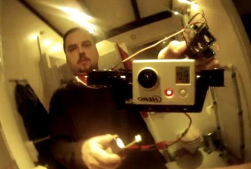 Estabilizador digital de cámara para multicopter