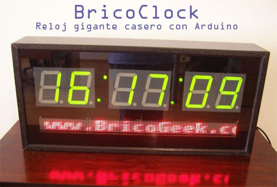 BricoClock: Reloj gigante casero con Arduino