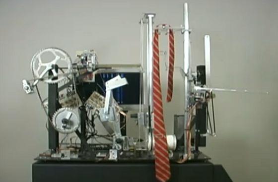 Robot para hacer el nudo de la corbata