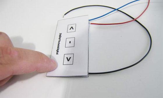 PaperTeclado: Un teclado con una hoja de papel