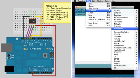 Cómo programar ATTiny85 con Arduino