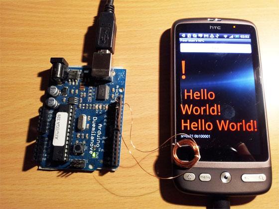 Comunicación entre Arduino y Android con magnetómetro