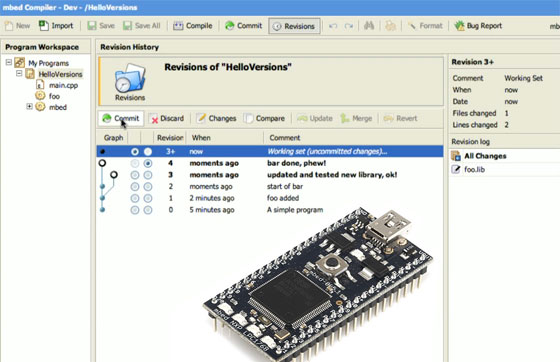 mbed soporta control de versiones