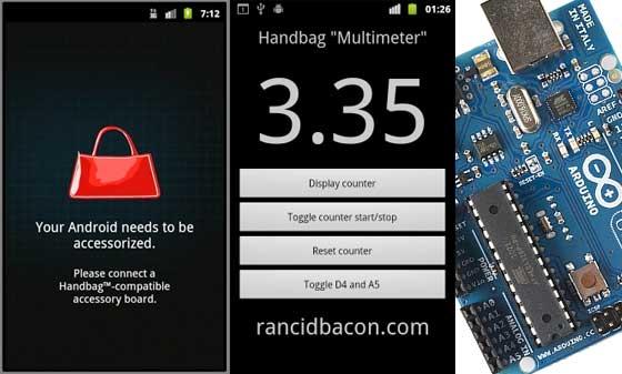 Android Arduino Handbag