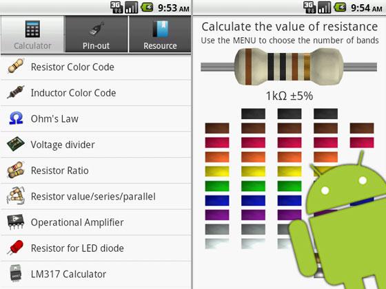 ElectroDroid: App de referencia electrónica para Android
