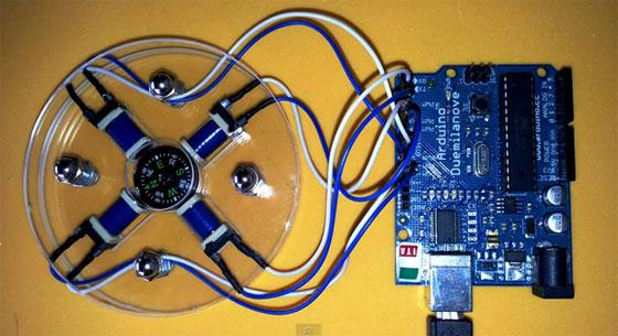 Simulando un motor paso a paso con solenoides