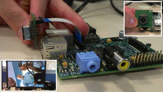 Raspberry Pi con cámara integrada