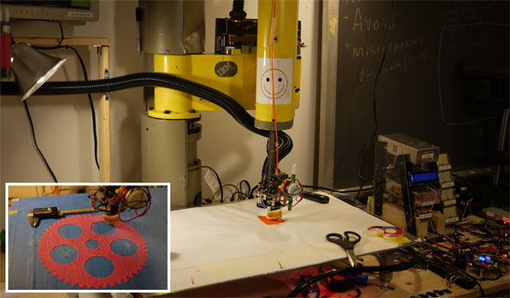 Brazo robot industrial transformado en impresora 3D