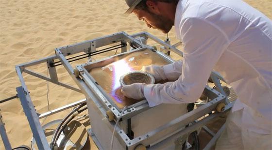 Imprimiendo en 3D con arena del desierto
