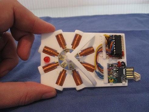 Motor paso a paso hecho con una impresora 3D