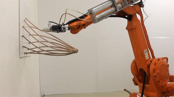 Mataerial: Dibujando en el aire con un brazo robot