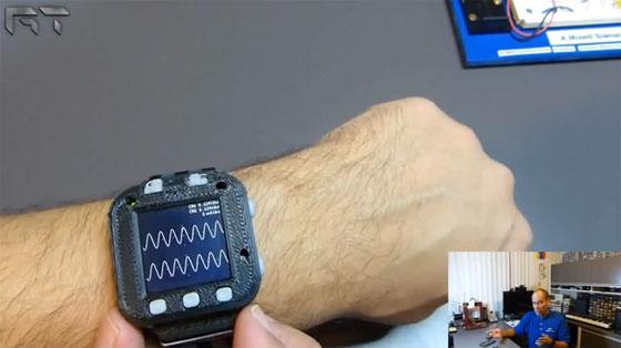 Reloj de pulsera con osciloscopio