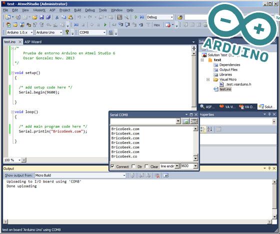Cómo programar Arduino con Atmel Studio 6