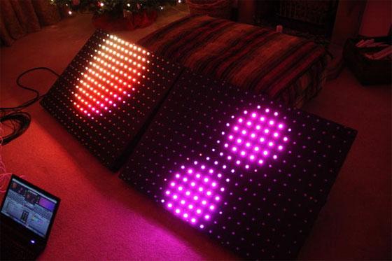 Matriz de LED gigante casera con control DMX