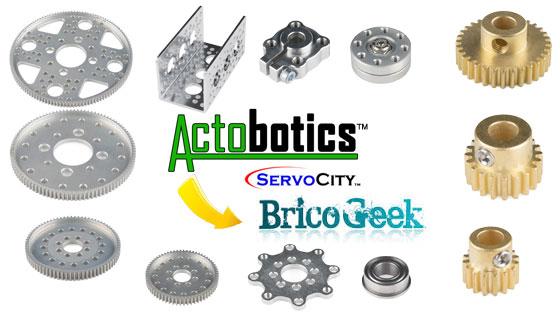 Nuevos productos de Actobotics (Servocity) en España