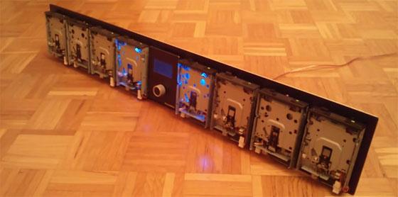 Reproductor MIDI con disqueteras