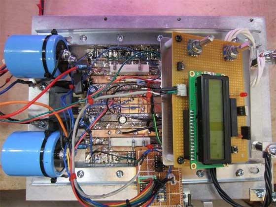Fuente de laboratorio digital casera