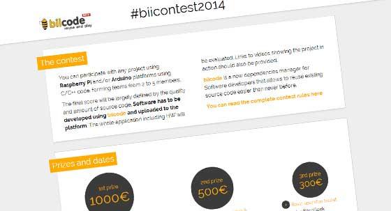 Concurso Biicode 2014 con premios en metálico
