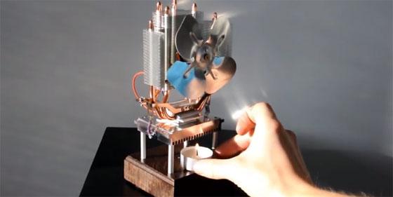 Ventilador termoeléctrico casero