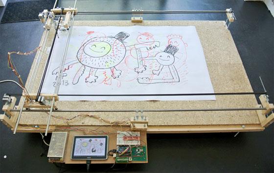 Máquina de dibujo con Arduino controlada con Android