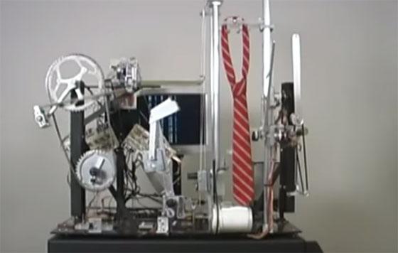 Una máquina para hacer el nudo de tu corbata