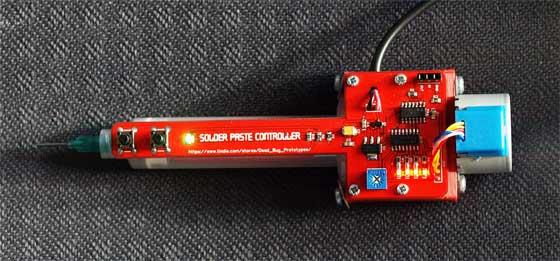 Dispensador automático de pasta de soldar