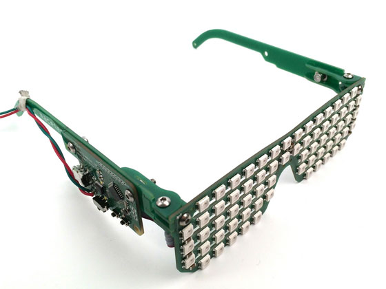 Gafas con matriz de LED RGB WS2812