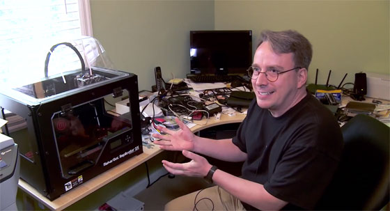 Visita guiada de la sala de trabajo de Linus Torvalds