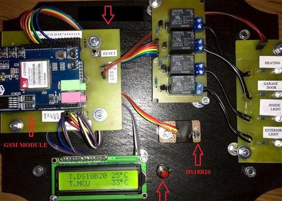 Domótica casera con Arduino controlado por GSM