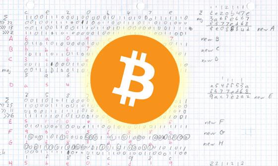 Calculando un Bitcoin a mano