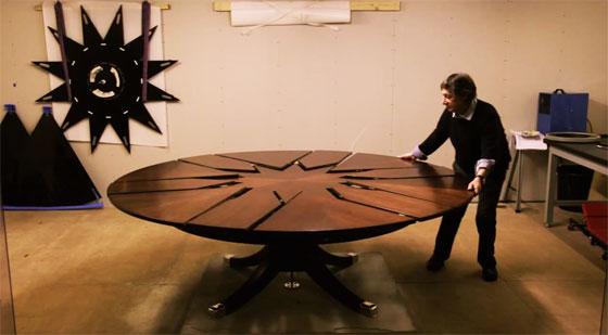 La mesa giratoria de David Fletcher es pura ingeniería