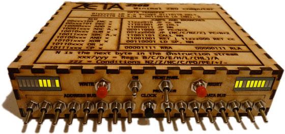 Ordenador Z80 casero con interruptores
