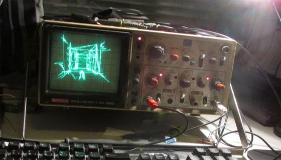 Quake funcionando en un Osciloscópio