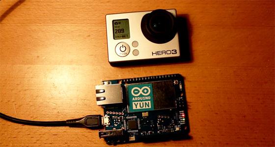 Cómo controlar una GoPro con Arduino Yun por Wifi