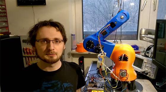 Desarrollo de un brazo robot impreso en 3D