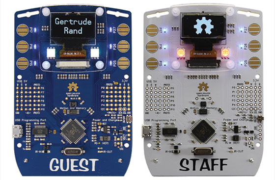 Parallax Hackable Electronic Badge
