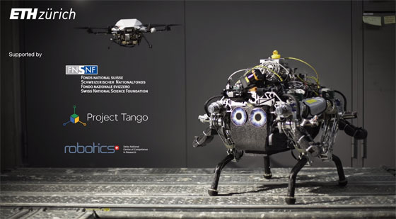 Trabajo colaborativo entre un dron y un robot terrestre