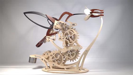 Colibri: Una escultura kinética orgánica que parece real