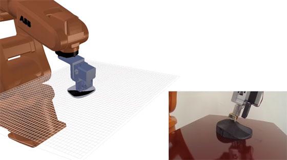 Un brazo robot como impresora 3D