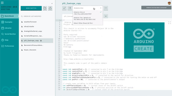 Arduino Create: El IDE de Arduino en la nube