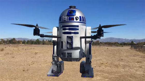 Un Dron con forma de R2D2