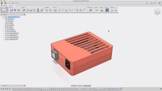 Cómo hacer una caja para Arduino con Fusion 360